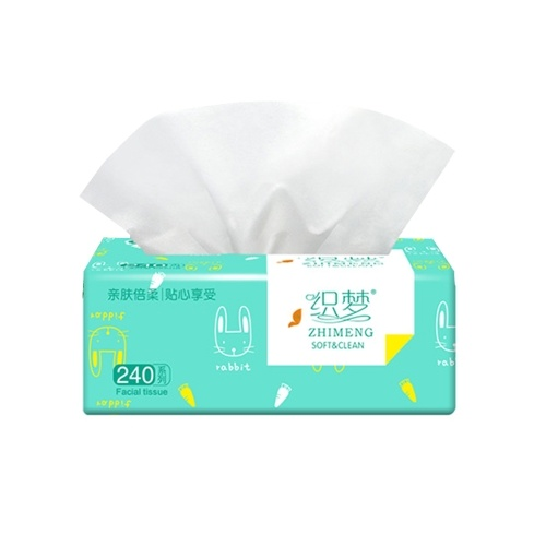 10 Packs Facial Tissues Thickening Strong Water Absorption  Eco-Friendly Recycled Paper