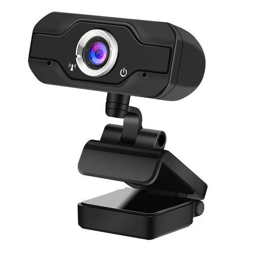 Full HD 1080P Webcam USB Mini Computer Camera Built-in Microphone Flexible Rotatable for Desktop and Gaming