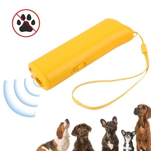 Handheld Dog Repellent Trainer Flashlight Ultrasonic Dog Deterrent 16.4ft Range Bark Stopper Dog Training