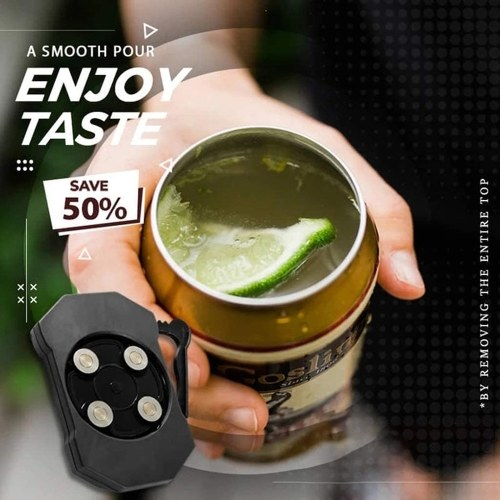 Topless Can Opener Bar Tool, Safety Easy Manual ABS Can Opener, No Sharp Edge, Effortless Openers for Household Kitchen Outdoor Party