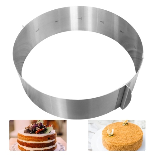 6-12 Inch Adjustable Cake Ring Cake Mold Stainless Steel Round Mousse Cake Baking Mold Pastry Baking Tool