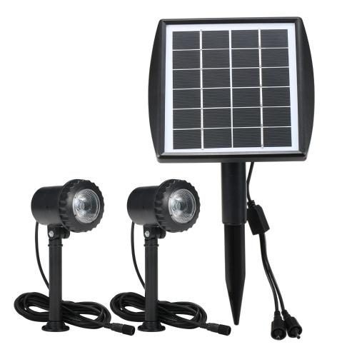 6V 1.8W LED Luci da giardino Faretti da esterno ad energia solare impermeabili