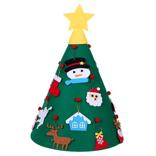 35インチDIYフェルトクリスマスツリーの飾り