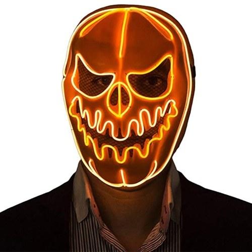 Halloween Mask LED Light Pumpkin Mask Horror