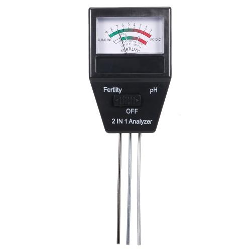Medidor de fertilidad del medidor de pH del suelo 2 en 1