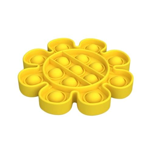 Pop Bubble Fidget Sensory Toy (Flower,Yellow)