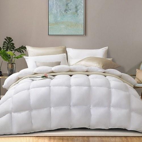 Edredón de plumón de pato blanco ABODY, edredón de invierno engrosado extra suave, cálido y acogedor de 1,8 m, 90 x 90 pulgadas