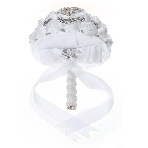 24cm Handmade Wedding Brooch Rhinestone Bridal Bouquet