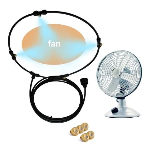 Kit de ventilador de nebulización para exteriores