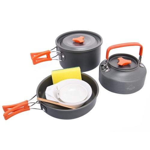 Портативная интегрированная походная посуда Widesea 8PCS