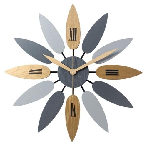 Reloj de pared retro de madera sólido de la decoración del uso doméstico simple de Europa del norte