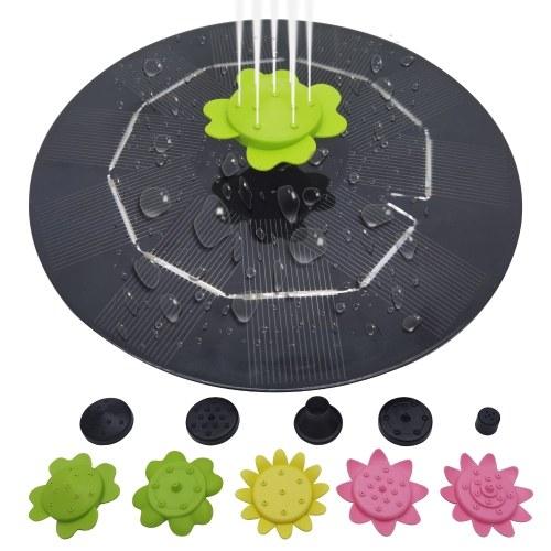 Фонтан на солнечной энергии 3 Вт с 9 цветочными насадками, плавающий круг, садовый фонтанный насос