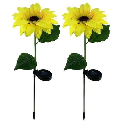 2PCS Sunflower Garden Light Solar LED Außenleuchten