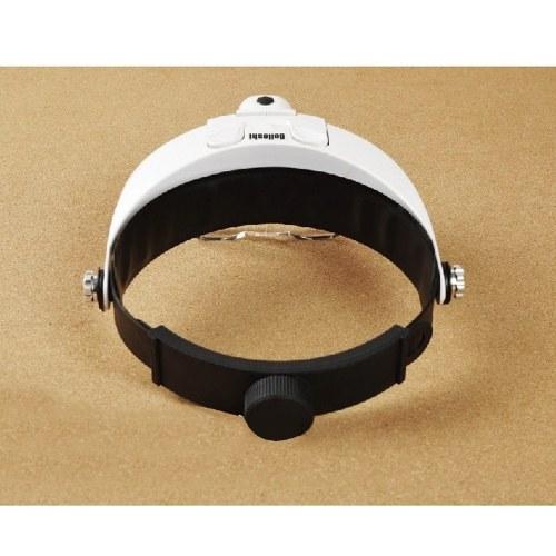 2LED Head-Mounted Illuminating Magnifier