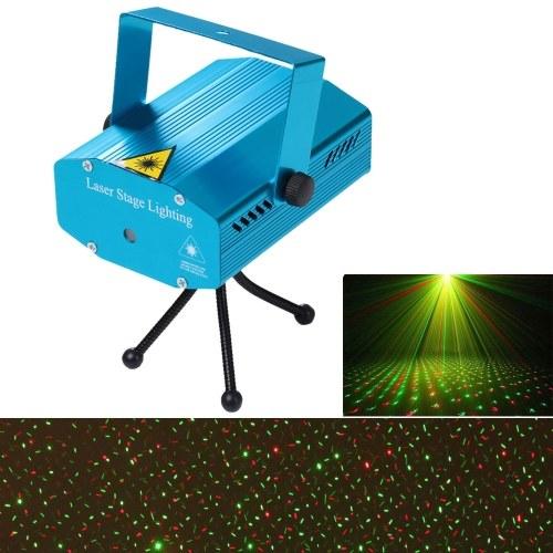 AC110-240V Мини светодиодный красный и зеленый лазерный проектор Stage Light