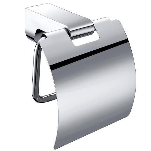 Homgeek montado en la pared de acero inoxidable cromado papel higiénico estante Porta papel Percha para almacenamiento de baño Cocina Home Hotel