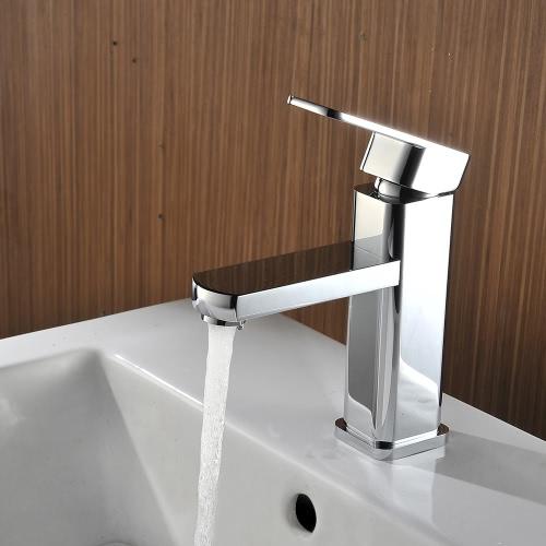 Homgeek Single Handle Brass Chromed Kitchen Bathroom Faucet