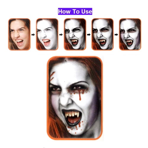FESTNIGHT Halloween Make Up Face Paint Kit Skin Friendly Kids Adults Zombie Makeup Vivid Face Paint for Costume Show Masquerade Ball Make-up Party