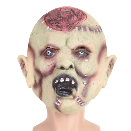 Festnight Halloween Creepy Scary Toothy Zombie Skull Ghost Mask Latex Face Mask Trick Nightmare Mask For Costume Ball