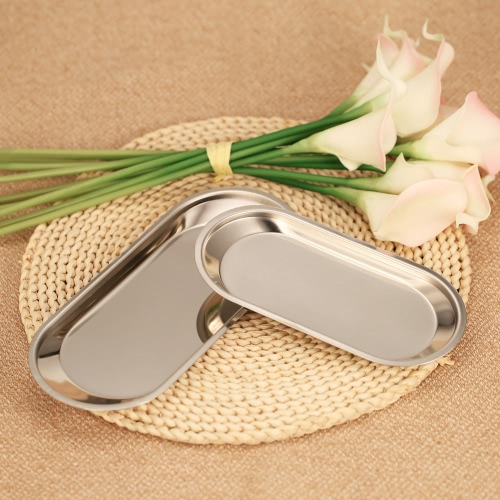 Serviette 2pcs Stainless Steel Guest et Organizer Équipement Plateau sur meuble-lavabo de comptoir de fruits Plateaux