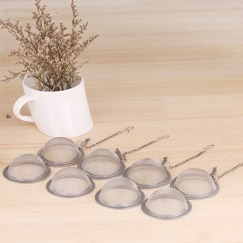 4pcs/set Solid Durable Stainless Steel Mesh Tea Strainer Tea Filter Tea Ball Kitchen Utensil Set Food Spices Seasoning Strainers