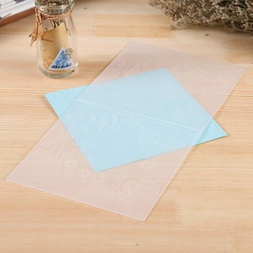 Пластиковые Чеканка Папка для Scrapbook DIY Альбом бумажные карты Инструмент Шаблон 15.5x15.5cm / 6x6inch