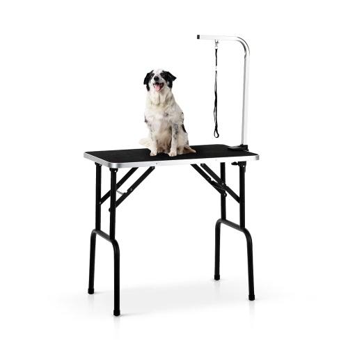 """iKayaa 32 """"Tavolo pieghevole per la cura del cane da compagnia"""