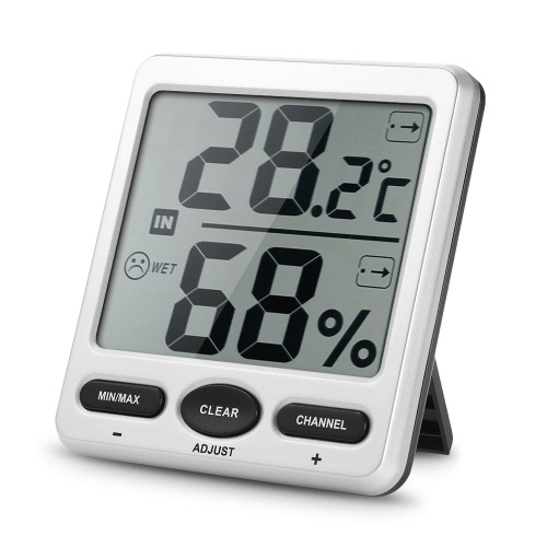 433MHz Wireless Indoor&Outdoor 8-Channel Thermometer Hygrometer Thermo-hygrometer 2 Consoles + 1 Transmitter WS-07-C2