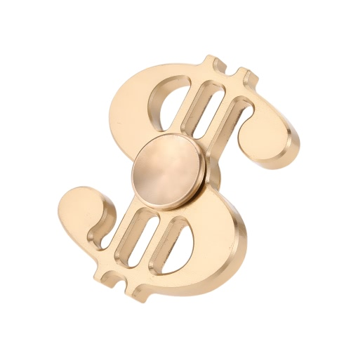 Music Note Shape Brass Spinner Time Killer Dollar Sign Focus Anxiété Réducteur de stress Ultra Durable Haute vitesse EDC Focus ADHD Autisme