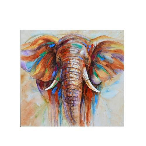 """32 """"* 32"""" pintura pintada a mano de la pintura al óleo del elefante Unframed de la pared de la lona de la pared de la pared de las pinturas de la decoración Decoración hermosa 80 *"""