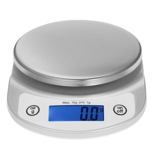 1kg / 0.1g Échelle de cuisine précise Balance haute précision de poche Echelle électrique portable Échelle multifonctionnelle avec écran LCD rétro-éclairé