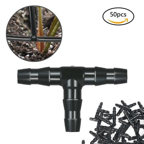 50er Sets T-Stück Gelenkschlauch-Steckverbinder Bewässerung Stacheldraht-Rohr-Bewässerungssystem