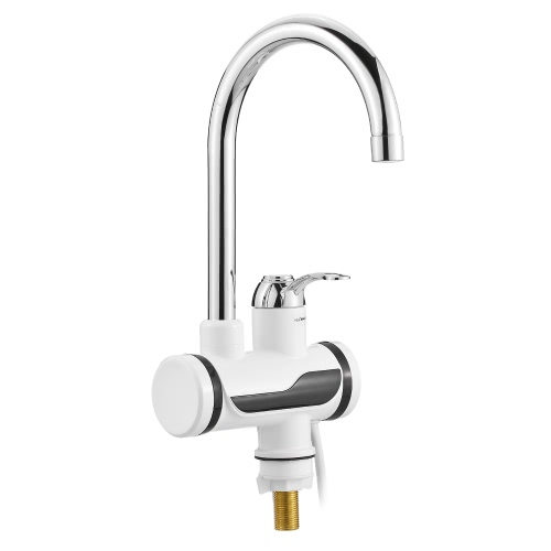Electric Hot Water Faucet with LED Digital Display Bathroom Kitchen Single Handle Electric Hot Water Heater Faucet Instant Heating Water Faucet