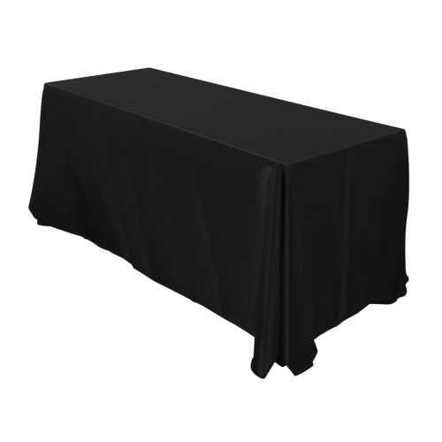 Htovila 126 * 90 '' Rectangle Black Dinner Tablecloth 200GSM Polyester Thick Table Cover Paño para Fiestas Home Banquetes Festivales