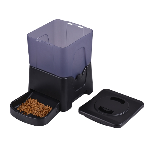 10L Automatique Pet Feeder Chronomètre Alimentaire Bol Distributeur avec Écran LCD Enregistreur Vocal pour Chiens Chats