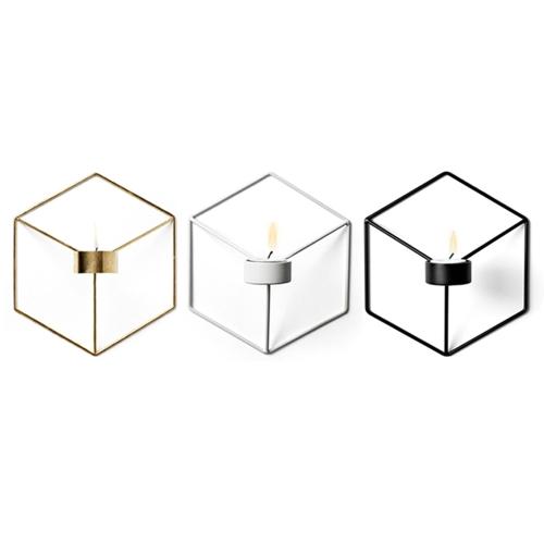 3PCS Nordic Style 3D Геометрический подсвечник из металла