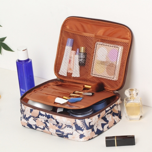 Flamingo Beautician Cosmetic Case Double Zipper Women Travel Organizer Waterproof Portable Large Capacity Storage Bag Makeup Bags