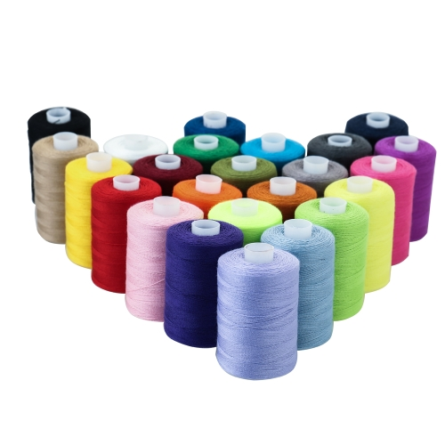 24 Assorted Colors Polyester Sewing Thread Spool Embroidery Bobbins 1000 Yards Craft Patch Steering-wheel Sewing Supplies