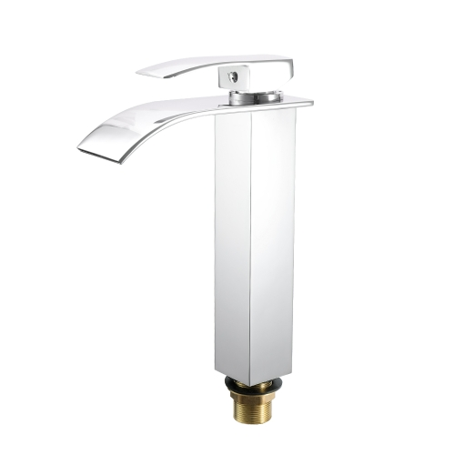 Deck Mounted Square Vessel Łazienka Basin Water Faucet Hot and Cold Crane Basin Tap Waterfall Faucets