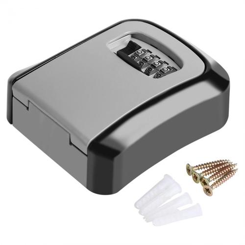 Pudełka do przechowywania na zewnątrz z 4-cyfrowym kluczem ściennym Połączenie hasła Bezpieczne klucze Box Hook Organization