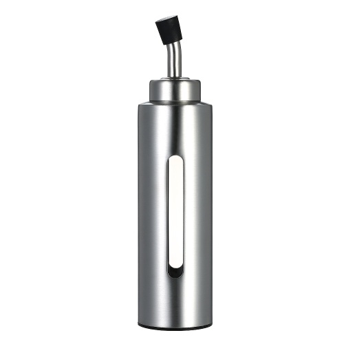 200ml / 7oz Диспенсер для масла и уксуса Крут из нержавеющей стали Оливковое масло Соус Pourer Dispensing Bottle Устойчивый к утечке контейнер для кухни