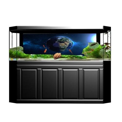 PVC Waterproof Single Side Ocean Natural Landscape Fish Bowl Sticker Aquarium Background Poster Wall