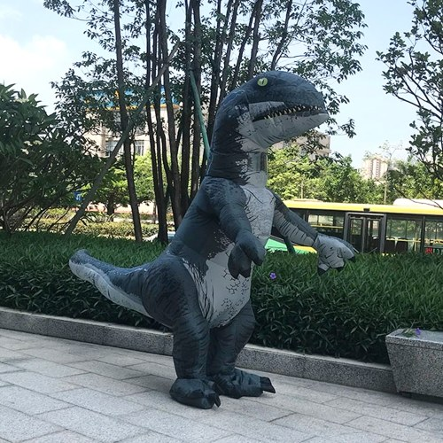 TOMTOP / Adults Dinosaur Inflatable Costume Props Blow Up Inflatable Fancy Dress