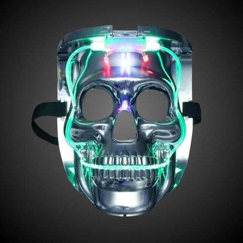 Máscara Flash de Crânio Careta Brilhante