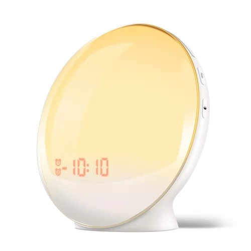 Wake-Up Light Alarm Clock with 7 Colored Sunrise Simulation and Sunset Fading Night Light