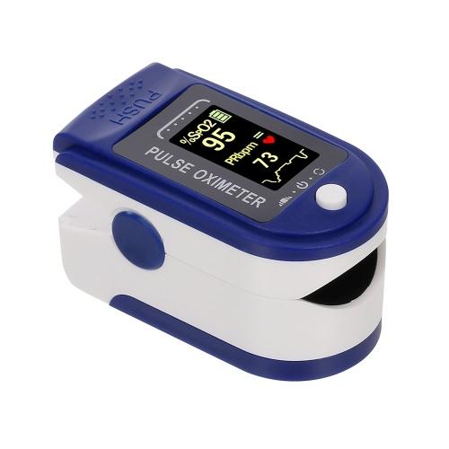Punta del dedo Oxímetro de pulso Mini monitor SpO2 Monitor de saturación de oxígeno Índice de perfusión del pulso Dispositivo medidor de medición 5s Lectura rápida con cordón