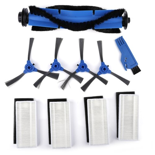 Robotic Vacuum Cleaner Filters Side Brushes Rolling Brush Kit Replacement Accessories for Eufy RoboVac 11S RoboVac 15T RoboVac 30 30C RoboVac 15C