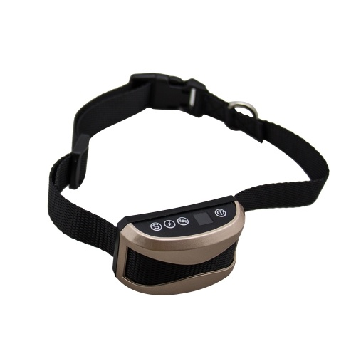 Dog Anti Bark Collar Adjustable Collar Beep Vibration Shock Training Collar with LCD Screen Display for Small Medium Large Dogs