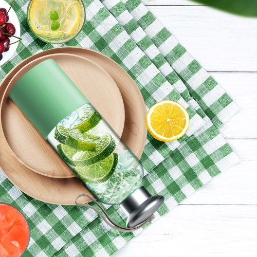 Portable Mini Lightweight USB Rechargeable Cup-Shape Juicer Juice Extractor Fruit Squeezer Mixer Blender Set for Shakes Smoothies with 3000mAh Rechargeable Battery