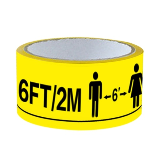 Maintain Distance Wait aintain Distance Wait Here 6FT/2M Adhesive Yellow  Tape